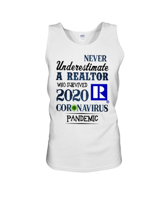 Never underestimate a realtor who survived 2020 coronavirus pandemic tank top