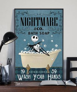 Nightmare Bath Soap Company Jack Skellington vintage poster 1