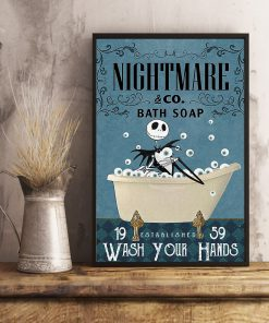 Nightmare Bath Soap Company Jack Skellington vintage poster 2