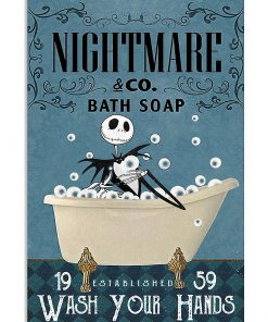 Nightmare Bath Soap Company Jack Skellington vintage poster