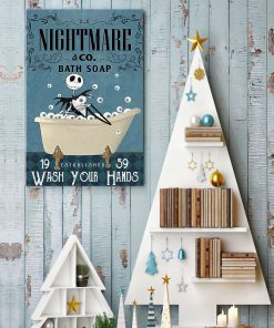 Nightmare Bath Soap Company Jack Skellington vintage poster 3