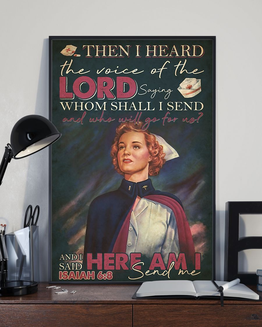 Nurse Then I heard the voice of the Lord saying Whom shall I send And who will go for us vintage poster 3