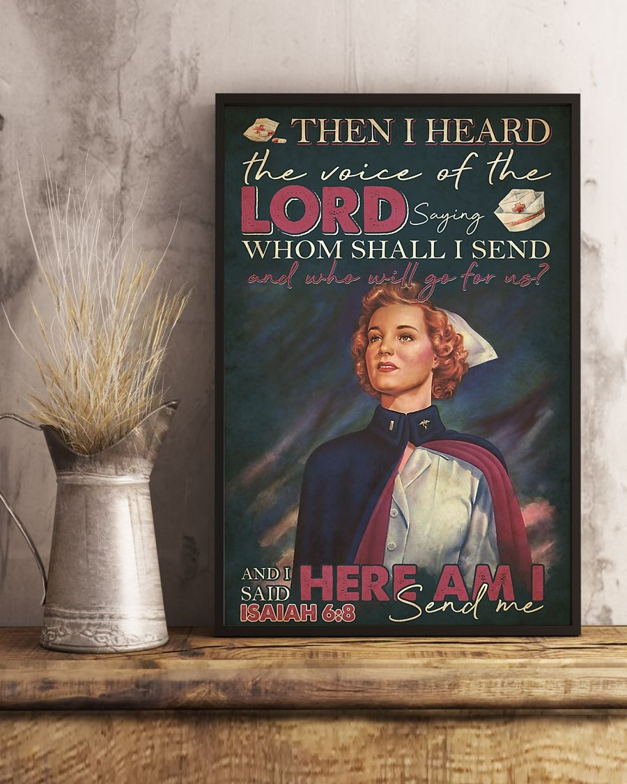 Nurse Then I heard the voice of the Lord saying Whom shall I send And who will go for us vintage poster 4