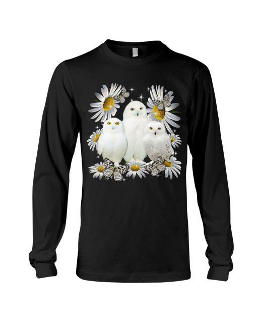 Owls and daisy flowers long sleeevd