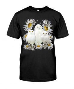 Owls and daisy flowers shirt