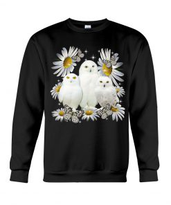 Owls and daisy flowers sweatshirt