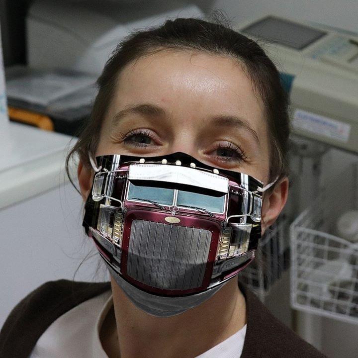 Peterbilt Truck 3D face mask4