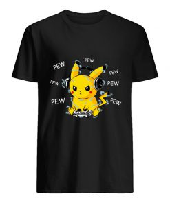 Pikachu Play Game Pew Pew Pew T-shirt