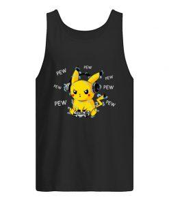 Pikachu Play Game Pew Pew Pew Tank top