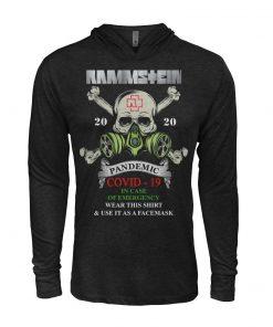 Rammstein Covid-19 Pandemic Skull hoodie