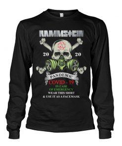 Rammstein Covid-19 Pandemic Skull long sleeved