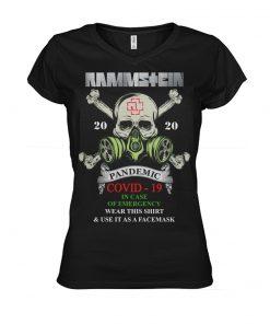 Rammstein Covid-19 Pandemic Skull v-neck