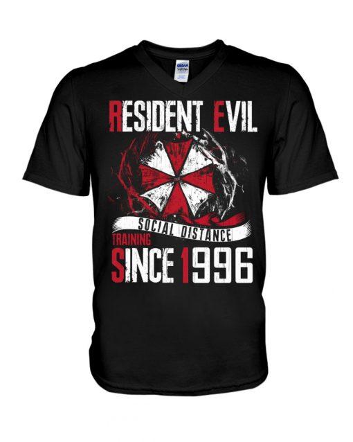 Resident Evil Social Distance Training Since 1996 v-neck