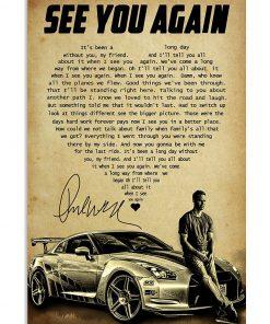 See You Again heart lyrics Paul Walker poster1
