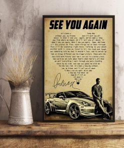 See You Again heart lyrics Paul Walker poster4