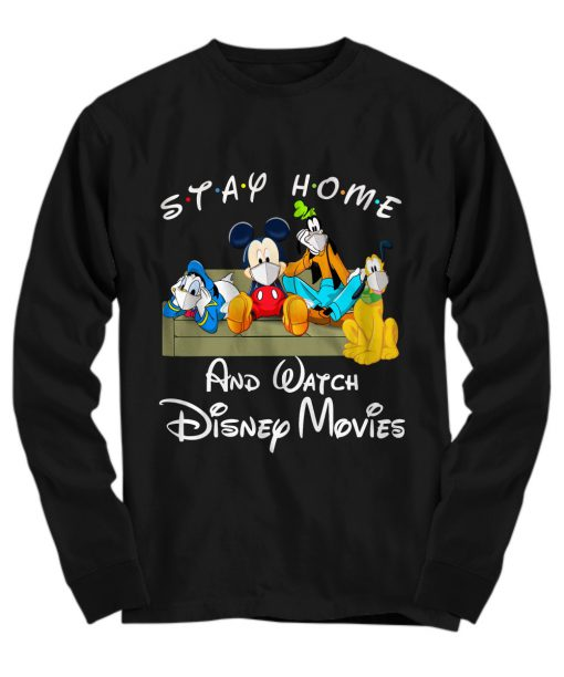 Stay home and watch Disney movie long sleeved