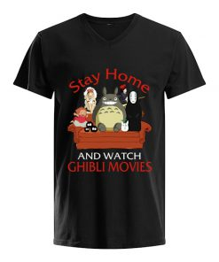 Stay home and watch Ghibli Movies v-neck