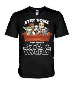 Stay home and watch Star Wars V-neck