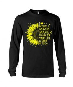 Sunflower I became a mask maker long sleeved