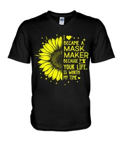 Sunflower I became a mask maker v-neck