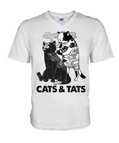 Tattoos Cats And Tats v-neck