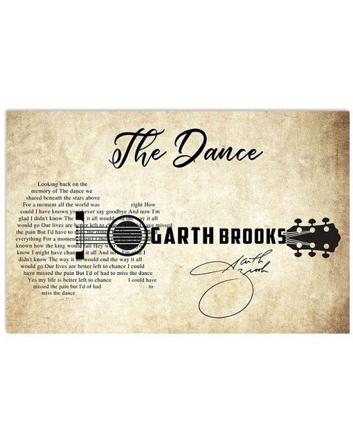 The Dance Garth Brooks lyrics guitar poster 2