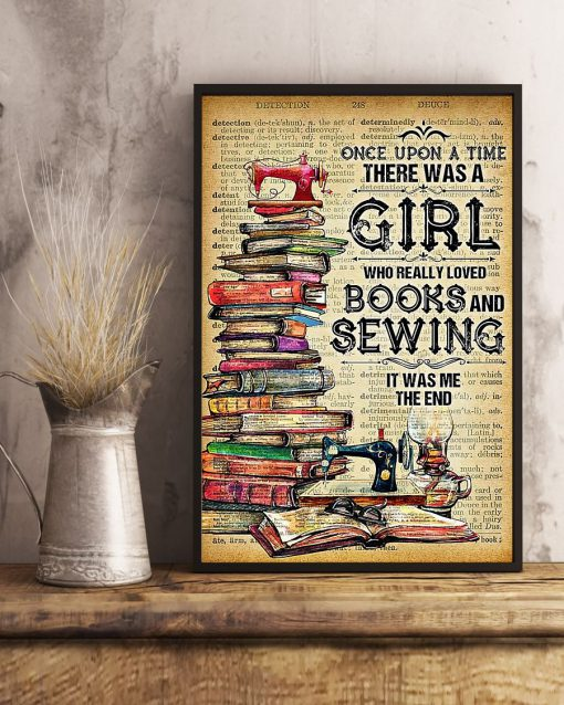 There was a girl Who really loved books and sewing poster4
