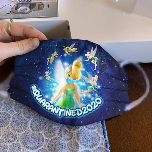 Tinker Bell Quarantined 2020 cloth mask 0