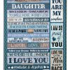 To my beautiful daughter I love you Mom fleece blanket