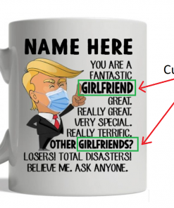 Trump You are a fantastic girlfriend Great Really great personalized mug husband