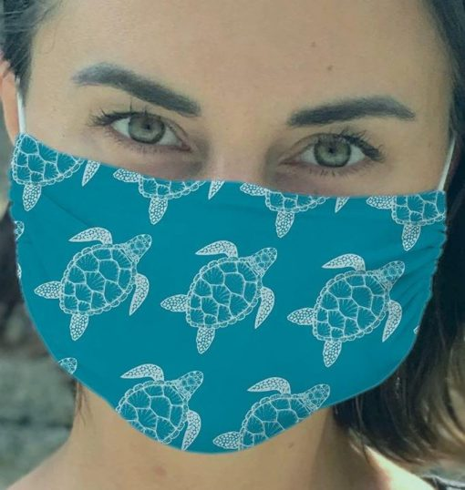Turtle Pattern face mask