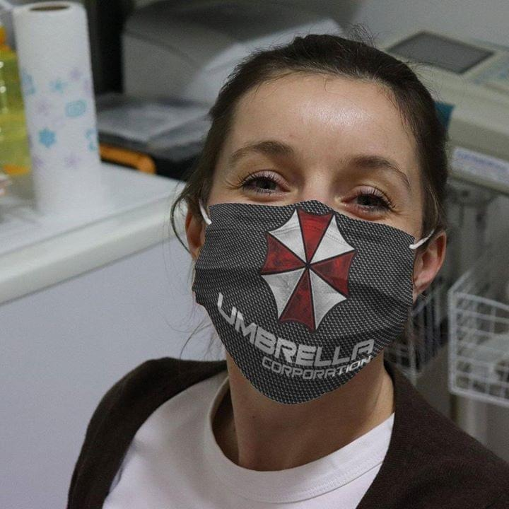 Discount Umbrella Corporation Logo cloth face mask
