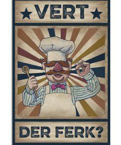 Vert Der Ferk vintage poster 1