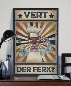 Vert Der Ferk vintage poster 3