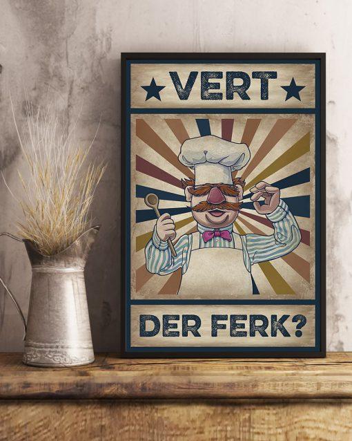 Vert Der Ferk vintage poster 4