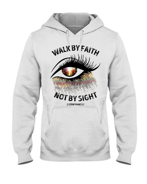 Walk by faith not by sight Sparkle Christ eyes Hoodie