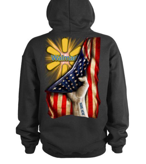 Walmart Proud American Flag personalized hoodie