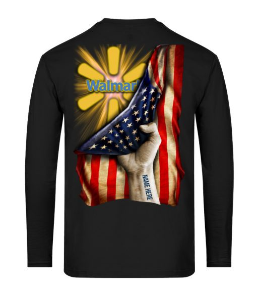 Walmart Proud American Flag personalized long sleeved