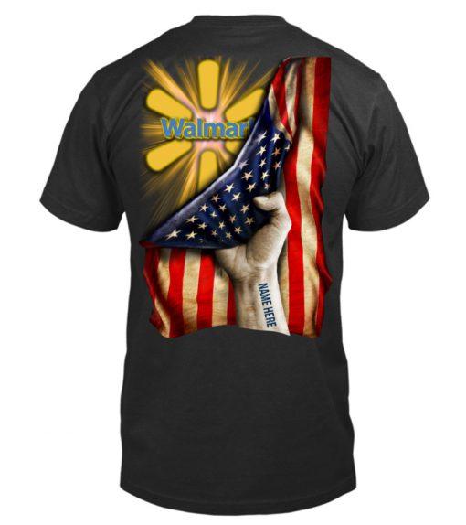 Walmart Proud American Flag personalized shirt