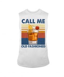 Wine Call Me Old Fashioned vintage tank top