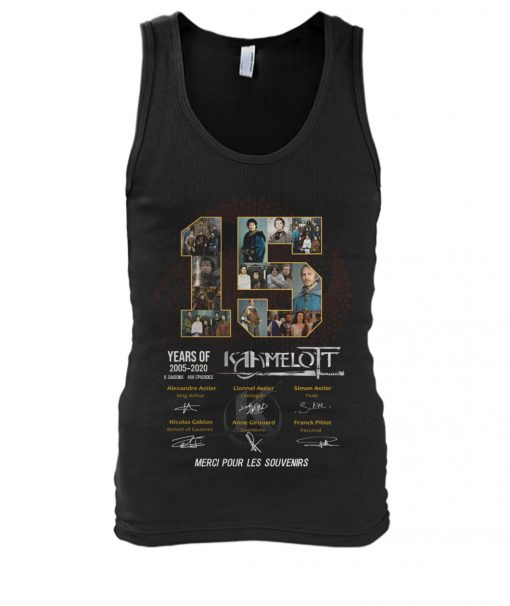 15 Years of Kamelot 2005-2020 tank top