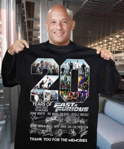 20 Years of Fast and Furious 2001-2021 T-shirt