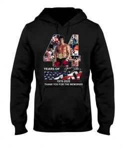 44 Years of Rocky 1976-2020 Thank you for the memories Hoodie