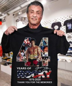 44 Years of Rocky 1976-2020 Thank you for the memories shirt