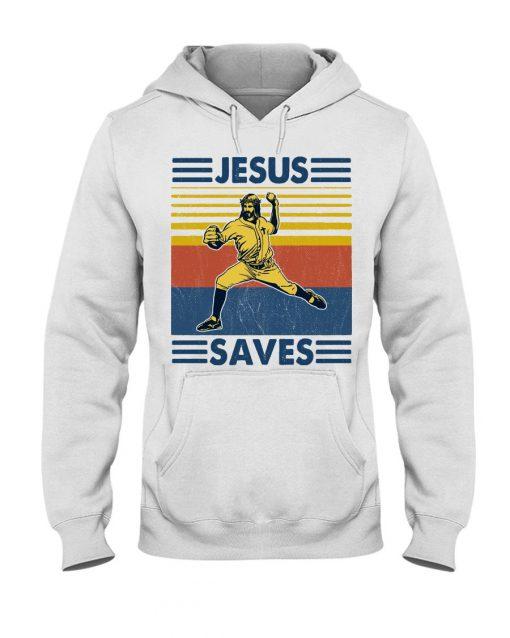 Baseball Jesus Saves Hoodie