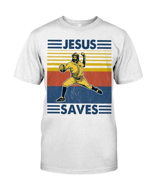 Baseball Jesus Saves T-shirt