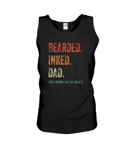 Bearded inked dad tank top