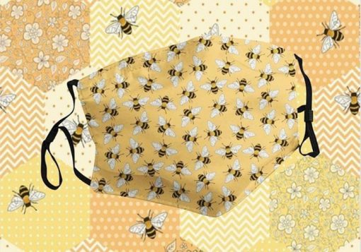 Bee pattern cloth mask