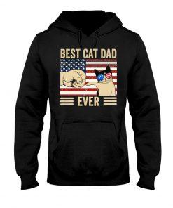 Best Cat Dad Ever American Flag hoodie