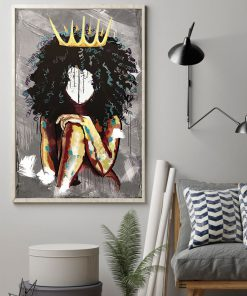 Black and Gold African Nude Woman Oil Painting Poster 2